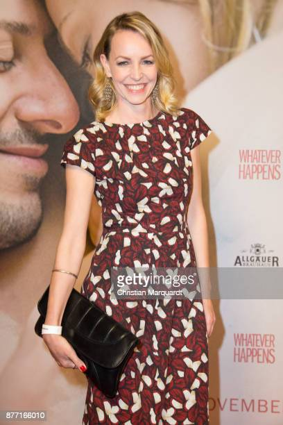 Simone Hanselmann attends the premiere of 'Whatever happens' at Astor Film Lounge on November 21 2017 in Berlin Germany