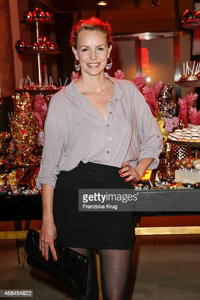 Simone Hanselmann attends the ReOpening of the 'La Banca' restaurant at Hotel de Rome on November 05 2014 in Berlin Germany