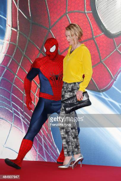 Simone Hanselmann attends the 'The Amazing SpiderMan 2 Rise Of Electro' Berlin Premiere at Sony Center on April 15 2014 in Berlin Germany
