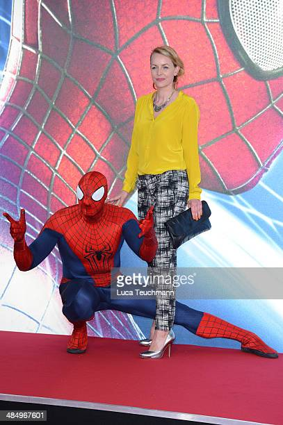 Simone Hanselmann attends the 'The Amazing SpiderMan 2 Rise Of Electro' Berlin Premiere at on April 15 2014 in Berlin Germany