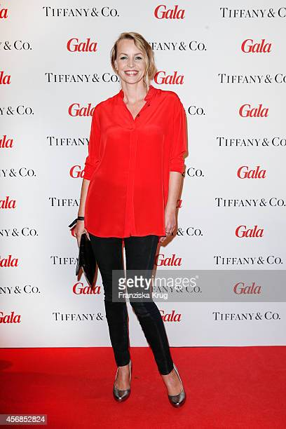 Simone Hanselmann attends the Tiffany Gala Host 'Streetstyle Meets Red Carpet' Event on October 08 2014 in Berlin Germany