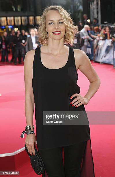 Simone Hanselmann attends the 'White House Down' Germany premiere at CineStar on September 2 2013 in Berlin Germany
