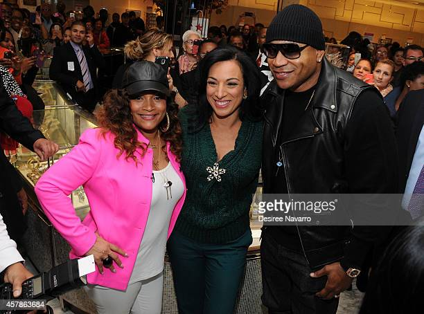 Simone I Smith and LL Cool J attend SIS By Simone I Smith Jewelry Event at Macy's Herald Square on October 25 2014 in New York City