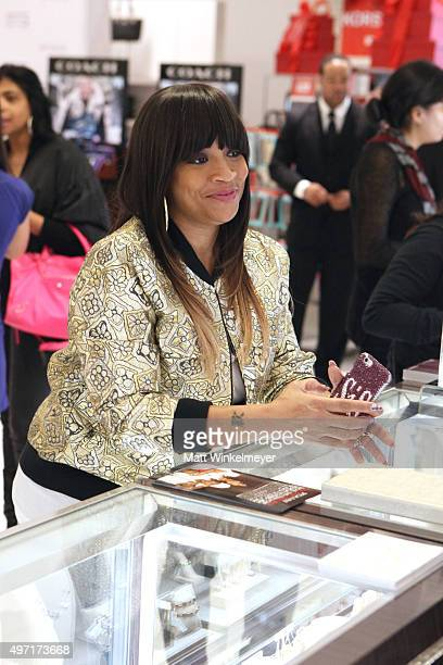 Simone I Smith attends the Macy's Downtown Los Angeles hosts SIS by Simone I Smith trunk show at Macy's Downtown Los Angeles on November 14 2015 in...