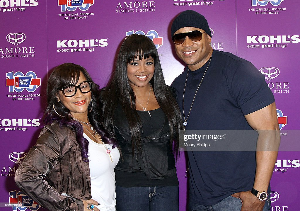Simone I. Smith, <a gi-track='captionPersonalityLinkClicked' href=/galleries/search?phrase=Shanice+-+US+Singer&family=editorial&specificpeople=846714 ng-click='$event.stopPropagation()'>Shanice</a> Wilson and <a gi-track='captionPersonalityLinkClicked' href=/galleries/search?phrase=LL+Cool+J&family=editorial&specificpeople=201567 ng-click='$event.stopPropagation()'>LL Cool J</a> attend Amore by Simone I. Smith Collection Debut at Kohl's on October 26, 2013 in Los Angeles, California.
