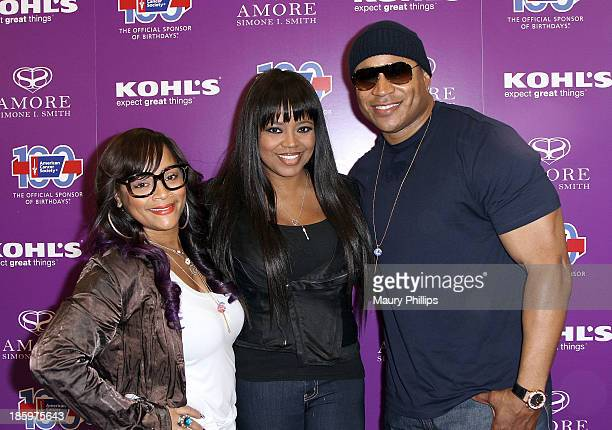 Simone I Smith Shanice Wilson and LL Cool J attend Amore by Simone I Smith Collection Debut at Kohl's on October 26 2013 in Los Angeles California