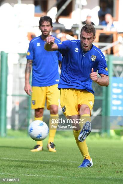 Simone Iacopini of Parma Calcio in action during the preseason friendly match between Parma Calcio and Dro on July 30 2017 in Pinzolo near Trento...