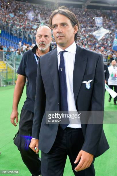Simone Inzaghi during the Italian SuperCup TIM football match Juventus vs lazio on August 13 2017 at the Olympic stadium in Rome