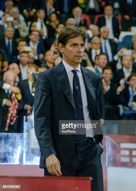 Simone Inzaghi during the Tim Cup football match FC Juventus vs SS Lazio at the Olympic Stadium in Rome on may 17 2017