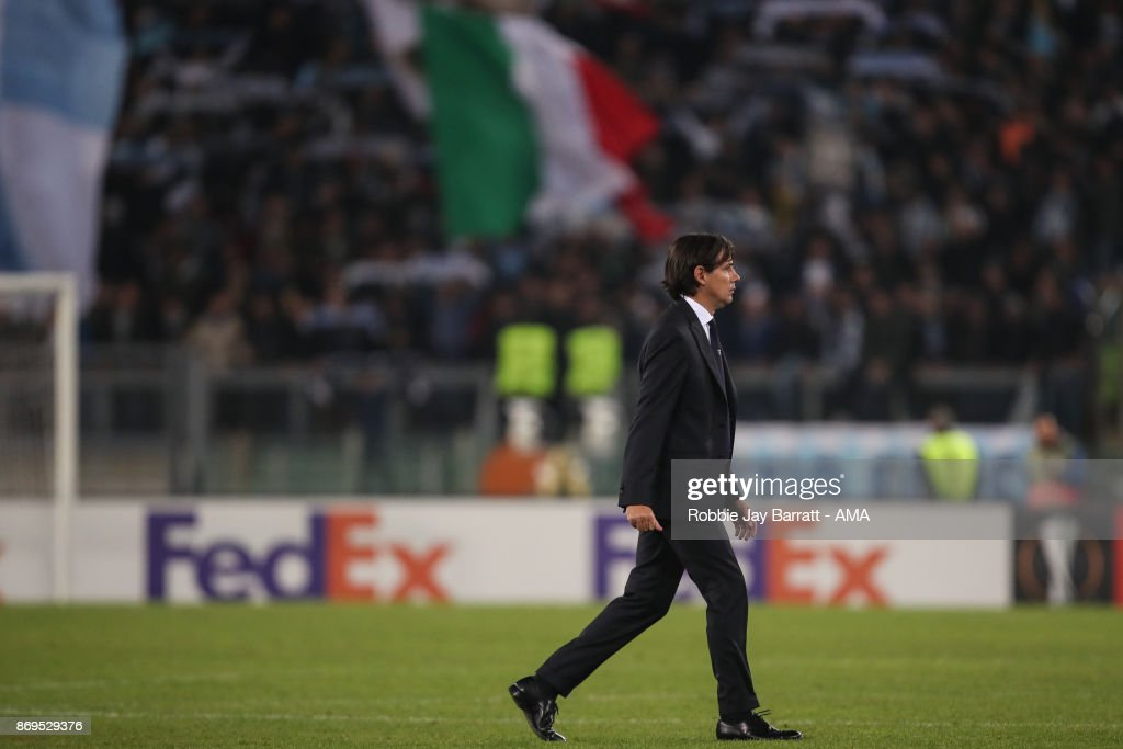 Simone Inzaghi head coach / manager of Lazio during the UEFA Europa League group K match between Lazio Roma and OGC Nice at Stadio Olimpico on November 2, 2017 in Rome, Italy.