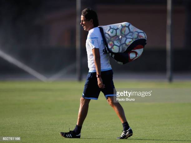 Simone Inzaghi head coach of SS Lazio during the SS Lazio training session on August 16 2017 in Rome Italy