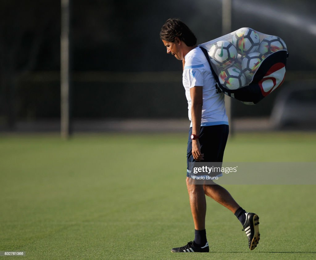 Simone Inzaghi head coach of SS Lazio during the SS Lazio training session on August 16, 2017 in Rome, Italy.