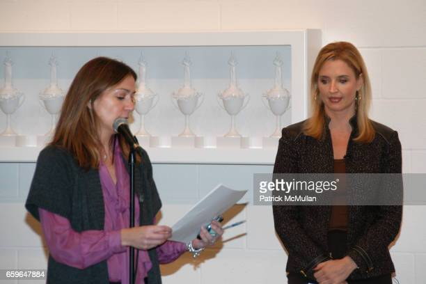 Simone Joseph and Laurie Dhue attend POWER AND BURDEN OF BEAUTY By RACHEL HOVNANIAN Panel Discussion at 520 W 20th Street on October 29 2009 in New...