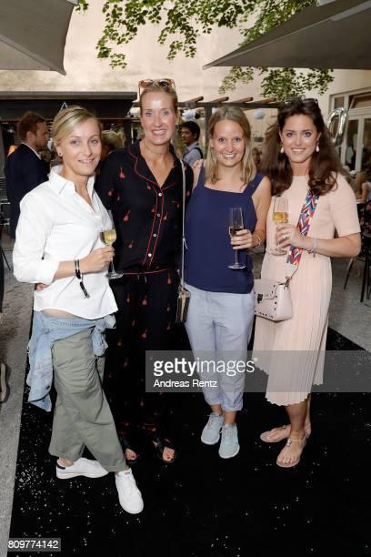 Simone Kunze Dr Susanne Dworak Corinna Janke and Fiona Regenbogen attend the 'Designer for Tomorrow' after show reception during the MercedesBenz...