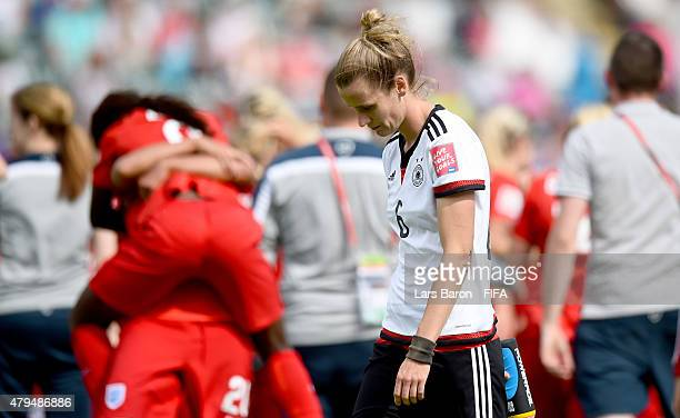 Simone Laudehr of Germany looks dejected after loosing the FIFA Women's World Cup 2015 Third Place Playoff match between Germany and England at...