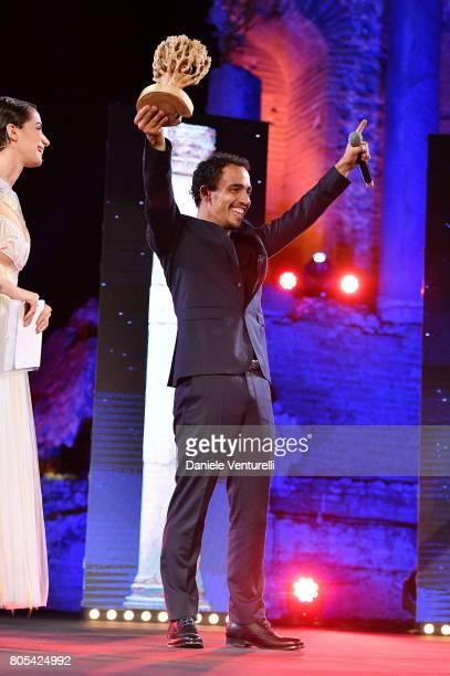 Simone Liberati attends Nastri D'Argento 2017 Awards Ceremony on July 1 2017 in Taormina Italy