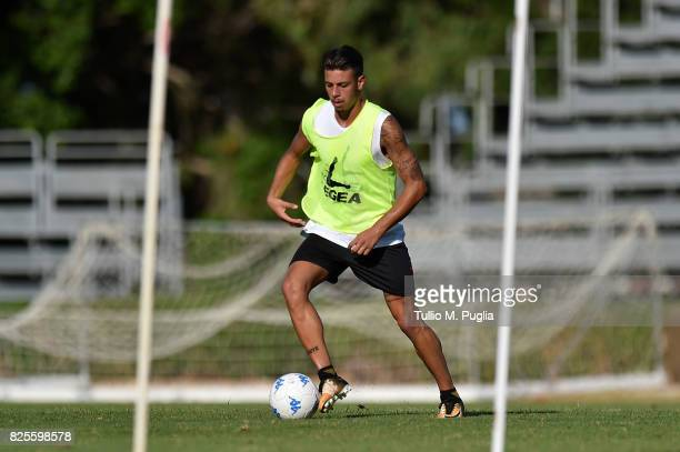 Simone Lo Faso takes part in a training session after the presentation of Giuseppe Bellusci as new player of US Citta' di Palermo at Carmelo Onorato...