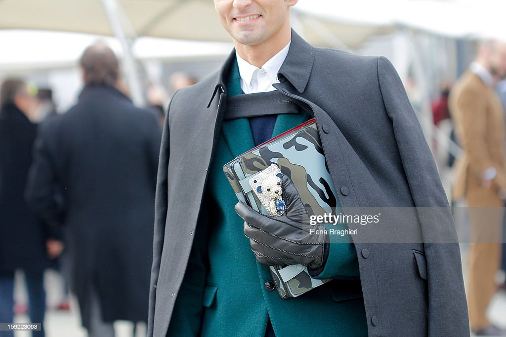 Simone Marchetti is seen at Pitti Immagine Uomo 83 on January 9, 2013 in Florence, Italy.