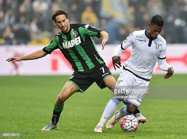 Simone Missiroli of Sassulo and Balde Keita of Lazio in action during the Serie A match between US Sassuolo Calcio and SS Lazio at Mapei Stadium...