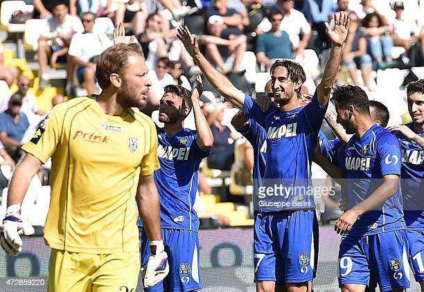 Simone Missiroli of Sassuolo celebrates after scoring the goal 23 during the Serie A match between AC Cesena and US Sassuolo Calcio at Dino Manuzzi...