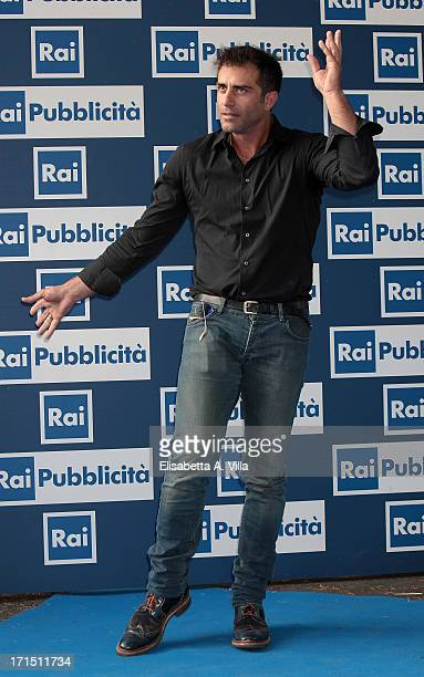 Simone Montedoro attends RAI Television 2013 / 2014 Programming Presentation at RAI Dear Studios on June 25 2013 in Rome Italy