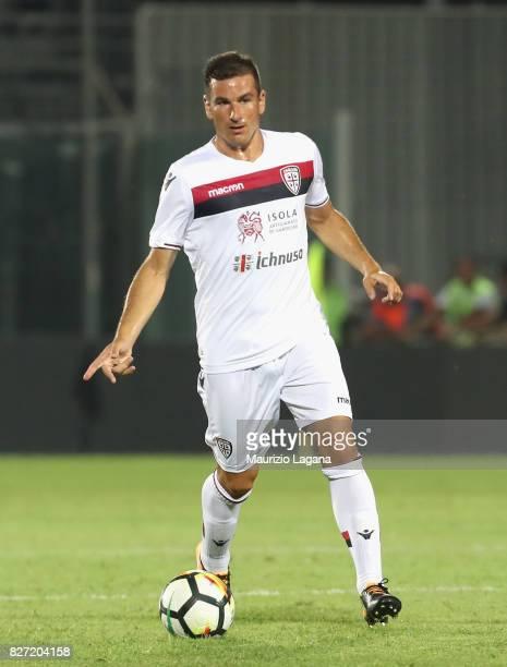 Simone Padoin of Cagliari during the PreSeason Friendly match between FC Crotone and Cagliari Calcio at Stadio Comunale Ezio Scida on August 5 2017...