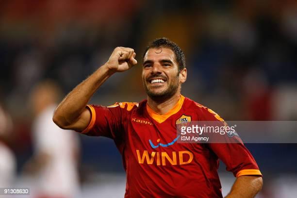 Simone Perrotta of AS Roma celebrate the second goal during the UEFA Europa League Group E match between AS Roma and PFC CSKA Sofia at Olimpico...