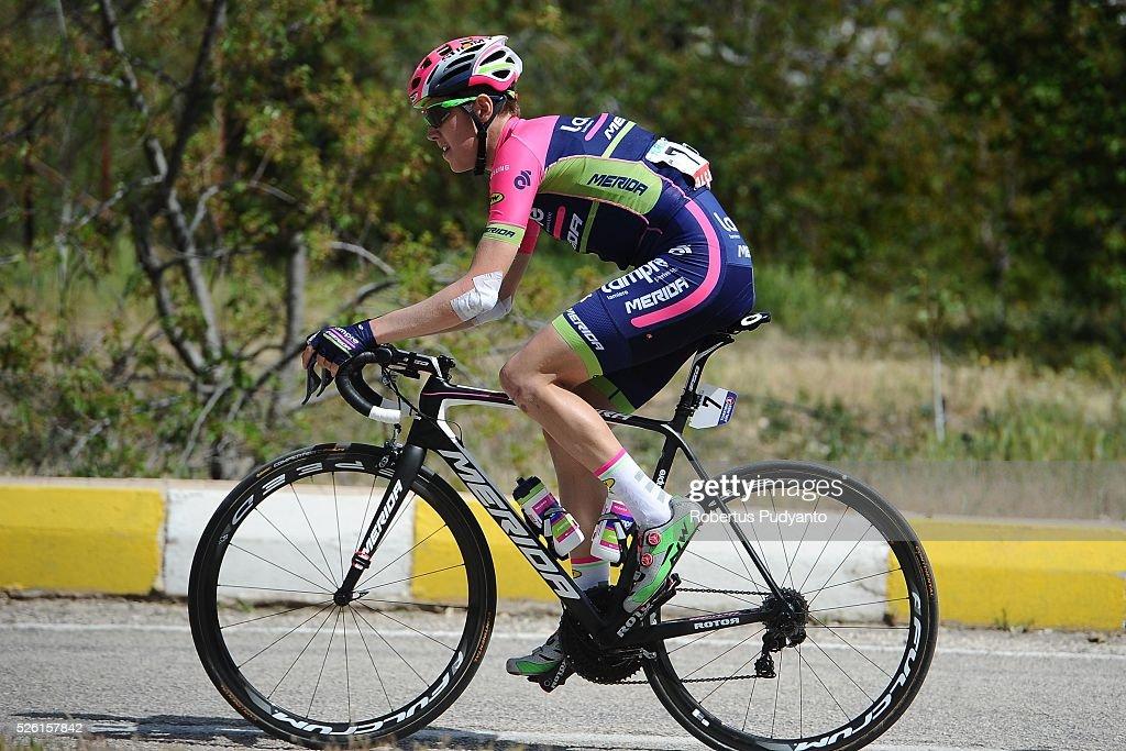 Simone Petilli of Lampre-Merida competes during Stage 6 of the 2016 Tour of Turkey, Kumluca to Elmali (117 km) on April 24, 2016 in Kumluca, Turkey.