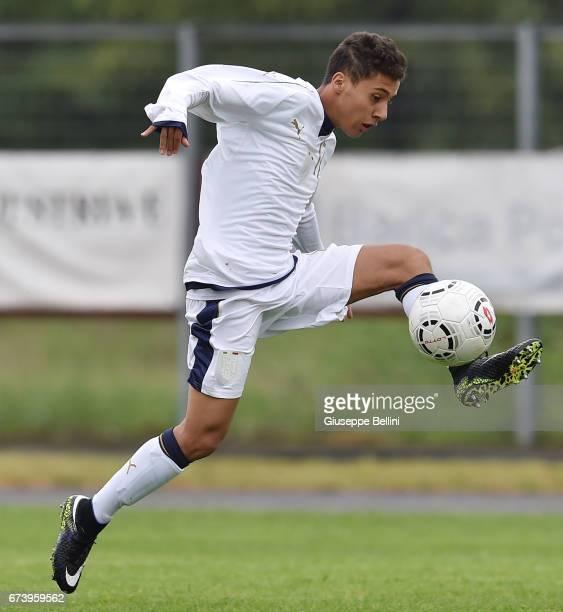 Simone Raffaele Caricati of Italy U15 in action during the Torneo delle Nazioni match between Italy U15 and UAE U15 on April 27 2017 in Gradisca...