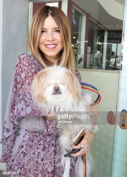 Simone Reyes attends a press conference celebrating Calfornia Governor Jerry Brown signing California assembly Bill 485 The Pet Rescue and Adoption...