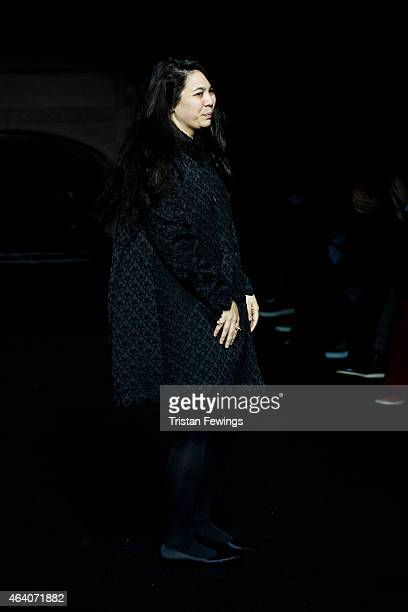Simone Rocha on the runway at the Simone Rocha show during London Fashion Week Fall/Winter 2015/16 at The Guildhall on February 21 2015 in London...