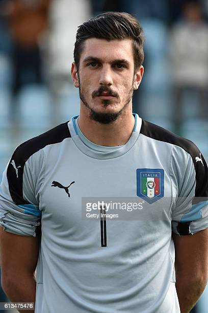Simone Scuffet during the Tournament Four Nations U 20 match between Italy and Poland at Gorgonzola stadium on October 06 2016 in Gorgonzola Italy