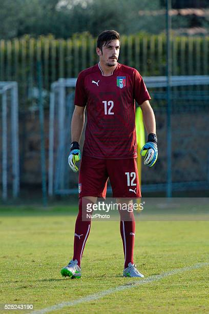 Simone Scuffet during Under 21 Football friendly match Italy vs Lupa Roma at the Mancini Park Hotel in Rome on September 03 2015