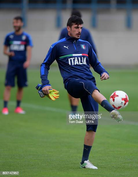 Simone Scuffet of Italy during a training session at Krakow Stadium on June 23 2017 in Krakow Poland