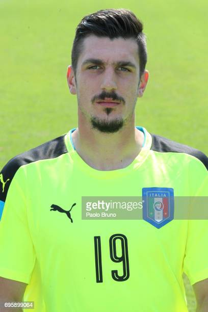 Simone Scuffet of Italy U21 poses during the official team photo at Centro Sportivo Fulvio Bernardini on June 14 2017 in Rome Italy