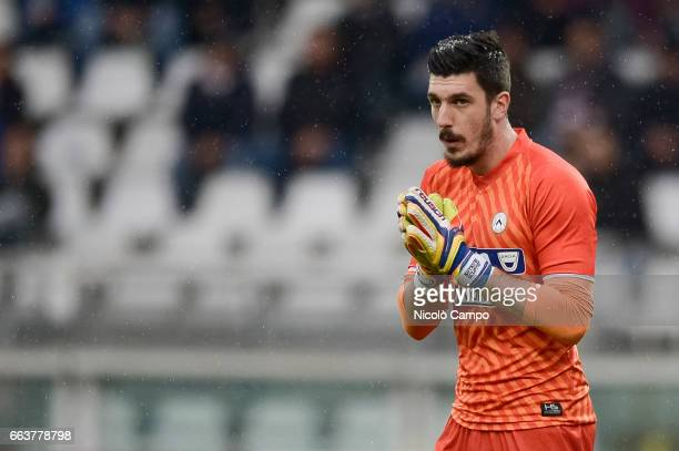 Simone Scuffet of Udinese Calcio gestures during the Serie A football match between Torino FC and Udinese Calcio Final result is 22