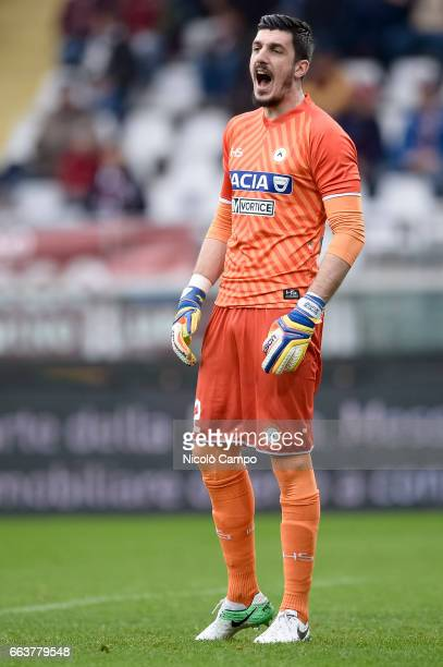 Simone Scuffet of Udinese Calcio in action during the Serie A football match between Torino FC and Udinese Calcio Final result is 22