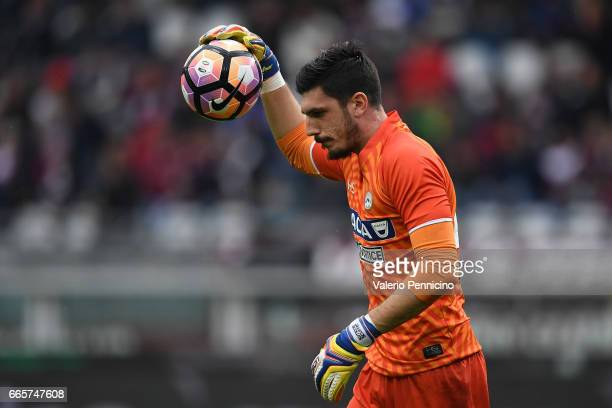 Simone Scuffet of Udinese Calcio in action during the Serie A match between FC Torino and Udinese Calcio at Stadio Olimpico di Torino on April 2 2017...