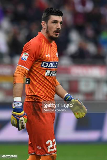 Simone Scuffet of Udinese Calcio looks on during the Serie A match between FC Torino and Udinese Calcio at Stadio Olimpico di Torino on April 2 2017...
