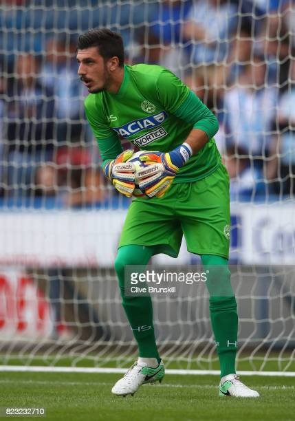Simone Scuffet of Udinese in action during the pre season friendly match between Huddersfield Town and Udinese at Galpharm Stadium on July 26 2017 in...