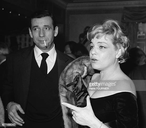 Simone Signoret and Yves Montand at Maxim's