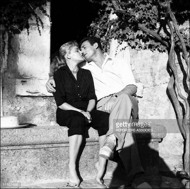 Simone Signoret Yves Montand in France in 1950