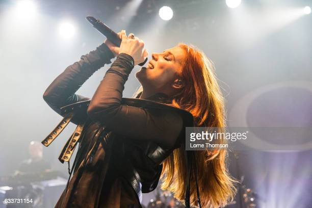 Simone Simons of Epica performs at Shepherd's Bush Empire on February 3 2017 in London United Kingdom