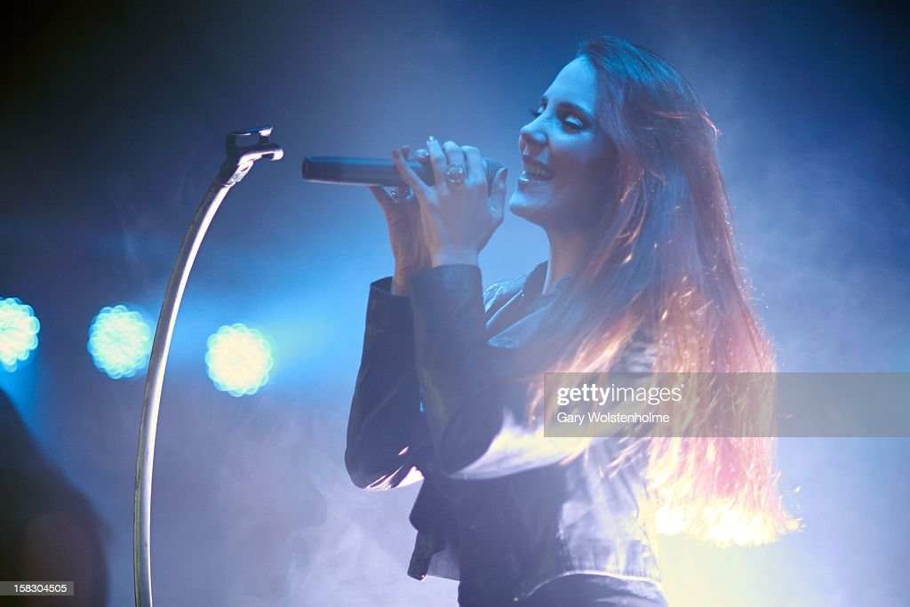 Simone Simons of Epica performs at the Corporation on December 12, 2012 in Sheffield, England.