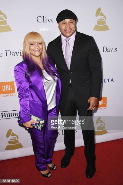 Simone Smith and recording artist LL Cool J attend PreGRAMMY Gala and Salute to Industry Icons Honoring Debra Lee at The Beverly Hilton on February...