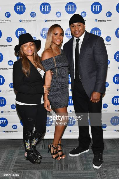 Simone Smith Samaria Leah Smith and LL Cool J attend The Fashion Institute of Technology's 2017 Commencement Ceremony at Arthur Ashe Stadium on May...