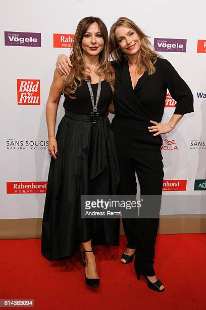Simone Thomalla and Aglaia Szyszkowitz attend the 'Goldene Bild der Frau' award at Stage Theater on October 13 2016 in Hamburg Germany