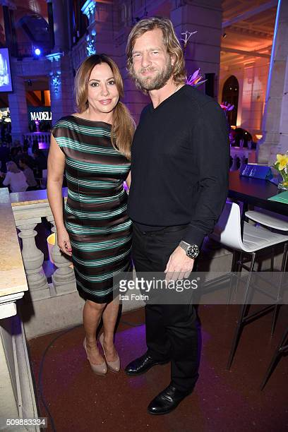 Simone Thomalla and Henning Baum attend the ARD Hosts Blue Hour Reception on February 12 2016 in Berlin Germany