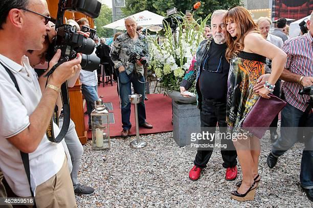Simone Thomalla and Udo Walz attend Udo Walz's 70th Birthday celebration at BAR jeder Vernunft on July 28 2014 in Berlin Germany