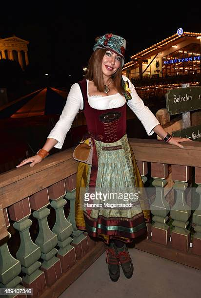 Simone Thomalla attends the Almauftrieb during the Oktoberfest 2015 at Kaefer Tent on September 20 2015 in Munich Germany